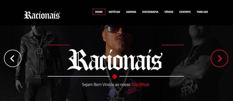 O novo site do grupo de rap Racionais MC´s começou a funcionar na tarde desta quarta-feira (22); fãs poderão acompanhar novidades sobre o lançamento do novo disco