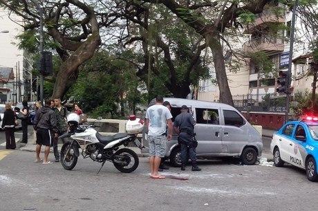 Colisão aconteceu na Av. Maracanã, altura da rua Dona Delfina