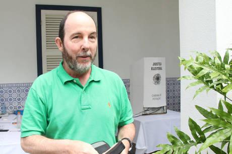Fraga votou no bairro de São Conrado, na zona sul do Rio