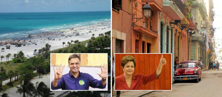 Miami: Aécio teve 91,79% dos votos; Havana: Dilma teve 86,73%