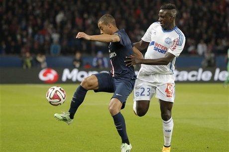 Lucas brilhou no jogo contra o Olympique de Marselha