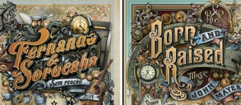 Capas do disco Sem Reação, de Fernando & Sorocaba, e Born and Raised, de John Mayer