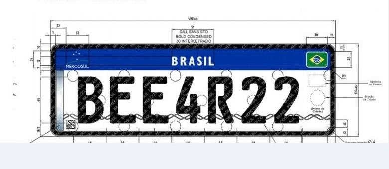 Nova placa deve ser adotada até 2023