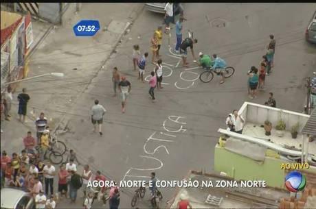 Moradores escrevem mensagens pedindo justiça após morte na zona norte de São Paulo