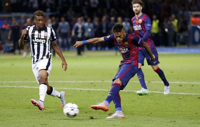 2014/2015 - Barcelona 3x1 Juventus - brasileiros que atuaram: Neymar e Daniel Alves (Barcelona)
