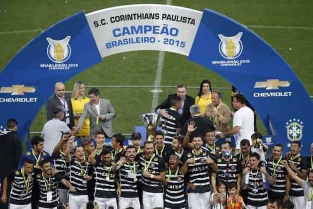 2015: DIFERENÇA: CINCO PONTOS. 1º: Corinthians – 61 pontos – 18 vitórias, sete empates, quatro derrotas/ 2º: Atlético Mineiro – 56 pontos – 17 vitórias, cinco empates, sete derrotas.