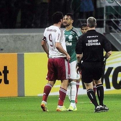 2015 - Palmeiras 1 (4) x (1) 2 Fluminense, pela Copa do Brasil - Em um duelo dramático, Fred superou as dores no joelho e marcou o gol que levou a partida para os pênaltis. Nas cobranças, o Tricolor foi eliminado e não conseguiu avançar à final da competição nacional.