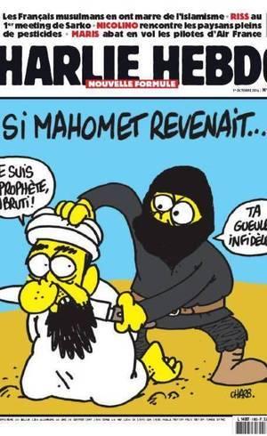 Charge publicada pelo jornal diz que, hoje, Maomé seria morto por radicais islâmicos
