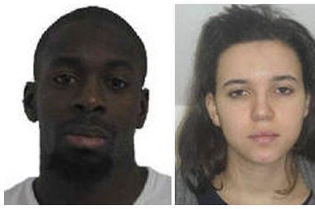 Amedy Coulibaly (esq.) e Hayat Boumeddiene são suspeitos na morte de policial francesa e atos de terrorismo