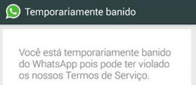 Alguns usuários têm recebido essa mensagem ao tentar utilizar o WhatsApp