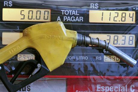 Litro da gasolina vai ficar R$ 0,22 a partir de hoje