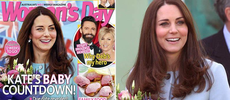 Kate na capa da revista e na vida real: olhos mais claros, dentes mais brancos e batom avermelhado