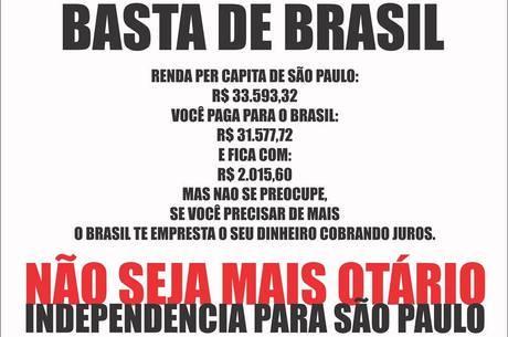Publicação do Facebook do Movimento São Paulo Independente