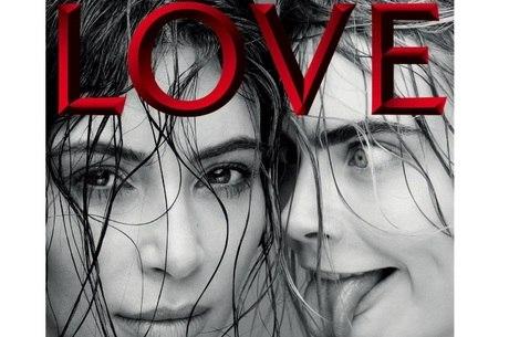 Cara Delevigne e Kim Kardashian estampam capa da revista LOVE
