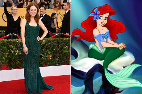 A atriz foi compara a outra ruiva de verde-esmeralda: Ariel