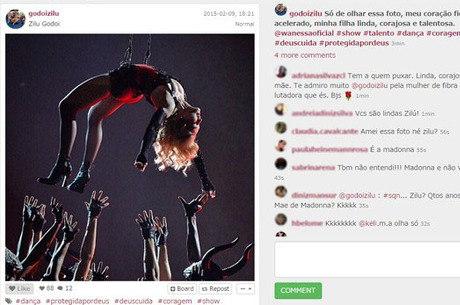 Zilu Camargo confunde Madonna com a filha Wanessa