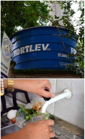 Moradores chegam a acumular até 75 mil litros de água sem pagar um centavo