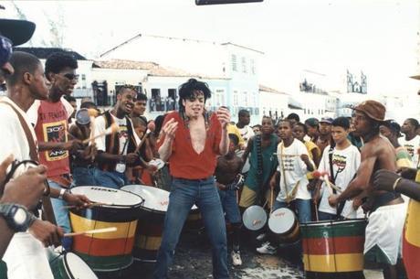 Michael Jackson e Olodum no Pelouruinho