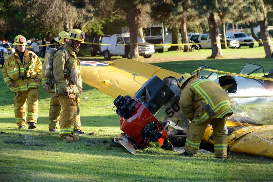 Em 2015 Harrison Ford também se envolveu em acidente aéreo The Grosby Group