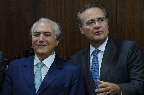 Michel Temer e Renan Calheiros se encontraram hoje em Brasília