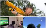 Capa Militares treinam como derrubar aviões com bazuca em simulador de artilharia antiaérea