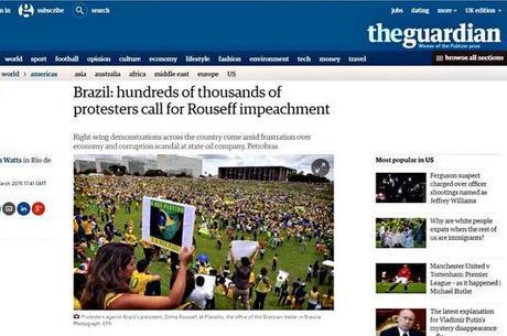 The Guardian: manifestantes pedem o impeachment