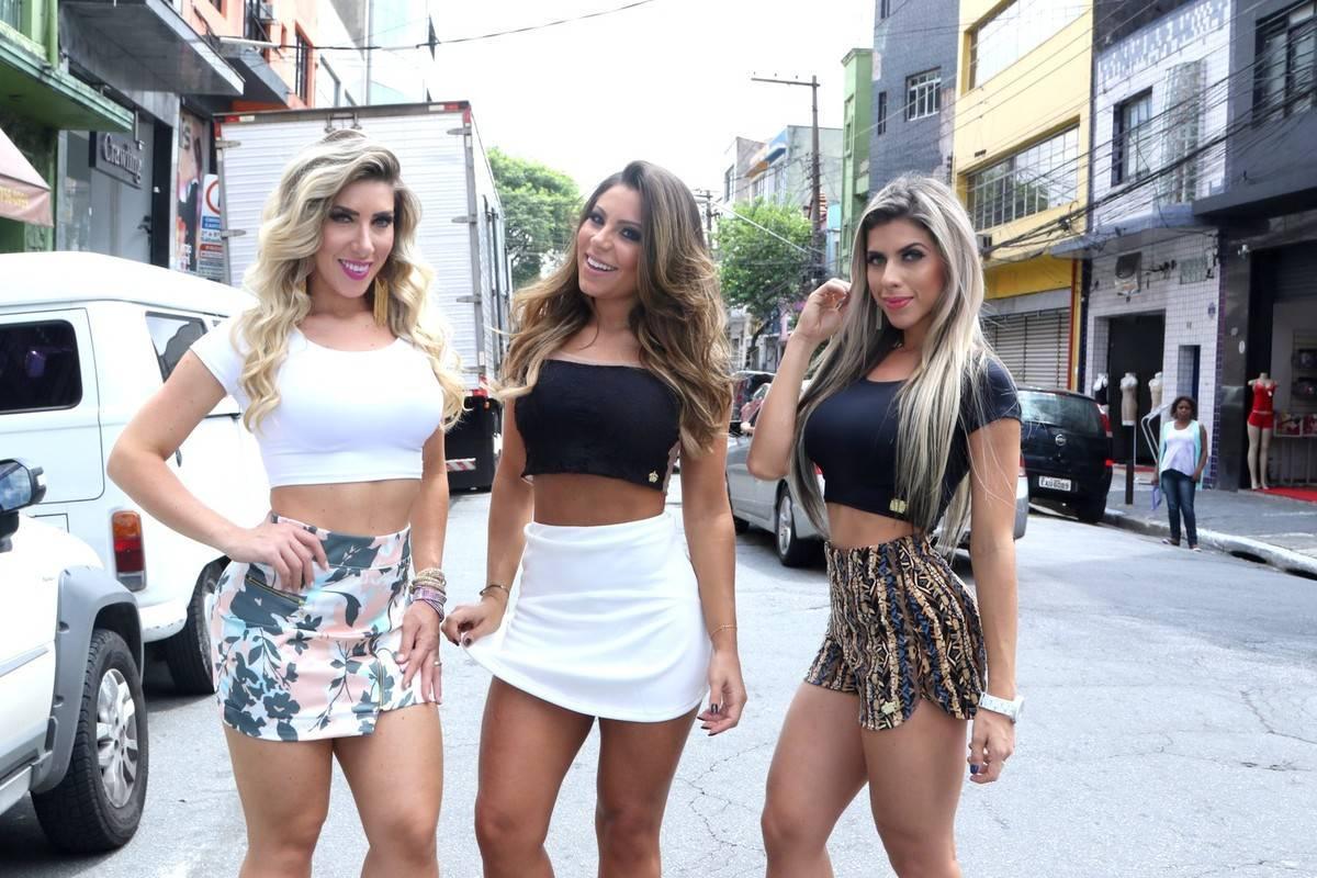 Andressa Ferreira, Ana Paula e Tati Minerato e Sabrina Boing Boing promovem  marca de roupa popular no Brás - Fotos - R7 R7 Meu Estilo