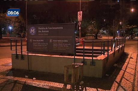 Criminosos assaltaram usuários do metrô na estação Catete