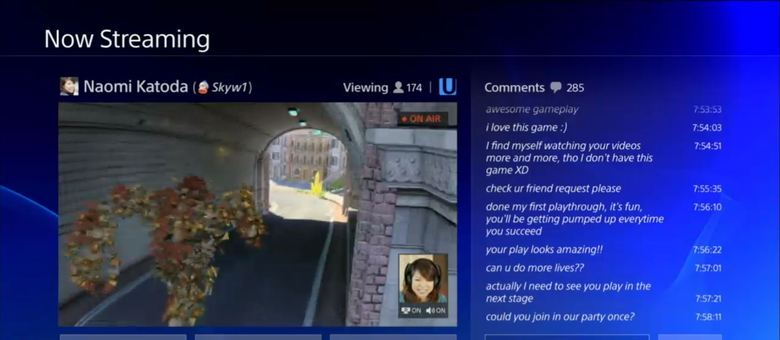 Playstation 4 também oferece opções de streaming de gameplays, contribuindo para a popularização da jogatina e dos serviços online
