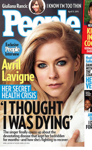 Avril na capa da revista People
