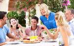 amigos, família, reunião, almoço