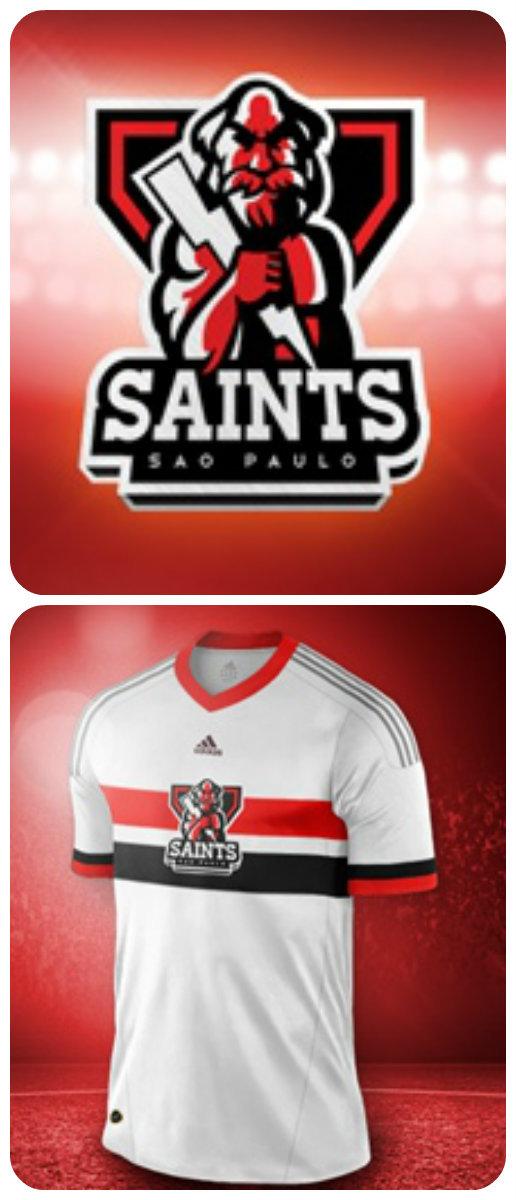 abbe8568e8d ... A versão do uniforme do São Paulo ficou mais parecida com a original