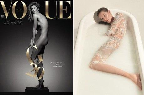 f2f94e6ec0508 Gisele Bündchen aparece nua na capa da Vogue Brasil - R7 Meu Estilo ...