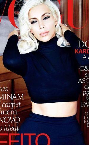 Kim Kardashian é capa de revista brasileira