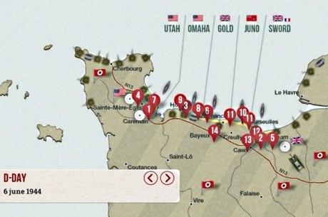 Soldados desembarcaram nas praias da Normandia, na França