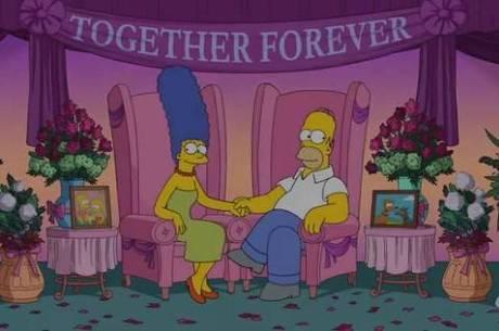Homer e Marge negam divórcio em vídeo
