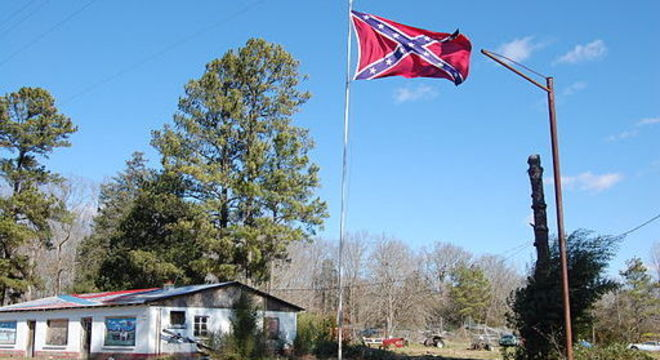 Emblema dos Estados Confederados representa aqueles que a favor da escravidão
