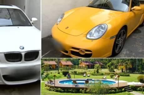 Entre os bens adquiridos com o desvio de dinheiro está uma pousada em Visconde de Mauá (RJ) e carros de luxo