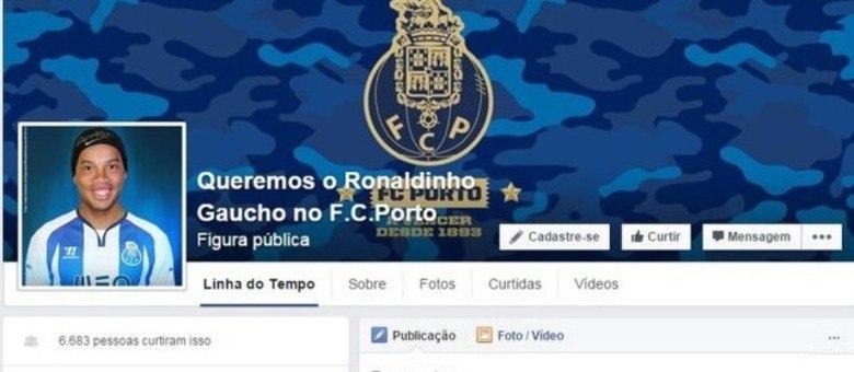 Torcedores do Porto fazem campanha e pedem contratação de Ronaldinho Gaúcho pelas redes sociais