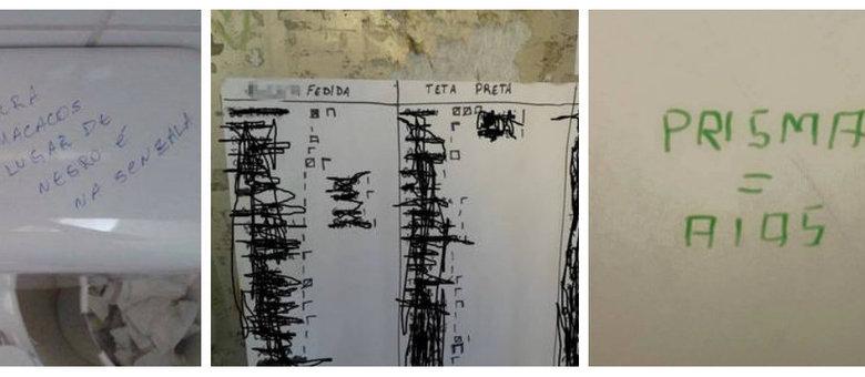 Xingamentos são expostos em diferentes universidades públicas de São Paulo