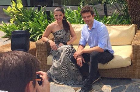 Gabriela Durlo e Daniel Aguiar divulgam a novela em Angola