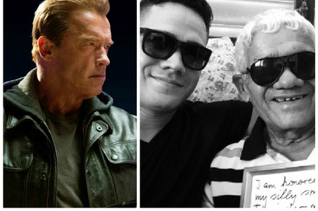 Arnold e os fãs: pai segura carta enviada pelo ídolo