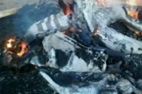 Aeronave explodiu ao atingir o chão