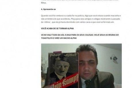Emerson aparece com livro de Hitler no blog de Robson Otto