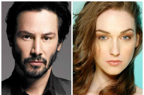 Keanu Reeves e Jamie Clayton: atores podem estar namorando