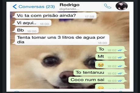 Adriana posta conversa constrangedora com Rodrigão