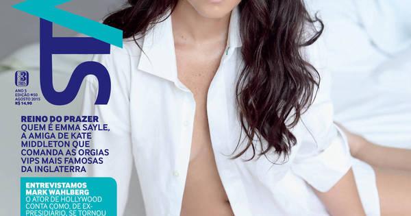 Terceiro Tempo: Uau! Apresentadora Larissa Erthal Posa Sensual Em Capa De