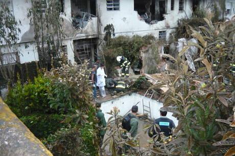 Local onde avião caiu com Eduardo Campos, em Santos