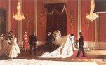 Princesa Diana e seu vestido de casamento