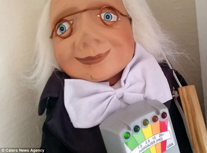 Esse é o tal boneco maldito, um fantoche antigo com uma cara bem esquisita!